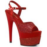 Vermelho 18 cm ADORE-709-2G brilho plataforma sandálias mulher