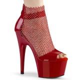 Vermelho 18 cm ADORE-765RM brilho plataforma zapatos mulher
