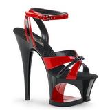 Vermelho 18 cm Pleaser MOON-728 Platform High Heels Sapatos