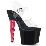 Vermelho 18 cm SCALLOP-708 Plataforma Sapatos Salto Alto