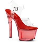Vermelho 18 cm SKY-308T Acrílico plataforma salto alto mulher