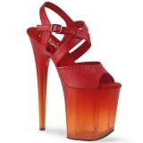 Vermelho 20 cm FLAMINGO-822T Sapatos plataforma de salto