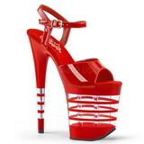 Vermelho 20 cm Pleaser FLAMINGO-809LN Saltos Altos Plataforma