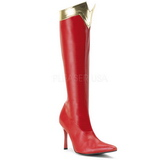 Vermelho 9,5 cm WONDER-130 Botas Agulha Femininas