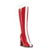 Vermelho Branco 8 cm GOGO-305 Botas Agulha Femininas
