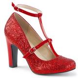 Vermelho Brilho 10 cm QUEEN-01 numeros grandes scarpin mulher