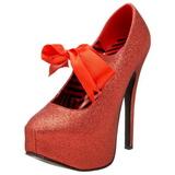 Vermelho Brilho 14,5 cm Burlesque TEEZE-04G calçados femininos com salto alto