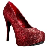 Vermelho Brilho 14,5 cm Burlesque TEEZE-06GW scarpin pés largos para homem