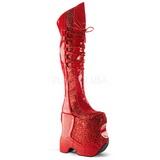 Vermelho Brilho 22 cm FABULOUS-3035 Botas Ate A Coxa Drag Queen