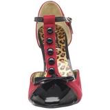 Vermelho Camurca 10 cm SMITTEN-10 Sapatos Scarpin Femininos