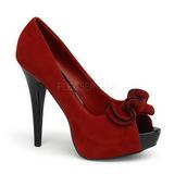 Vermelho Camurca 13,5 cm LOLITA-10 Plataforma Scarpin Salto Alto
