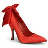 Vermelho Cetim 12 cm BOMBSHELL-03 Sapatos Scarpin Femininos