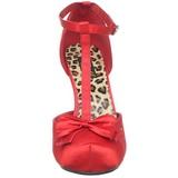 Vermelho Cetim 12 cm CUTIEPIE-12 Sapatos Scarpin Femininos
