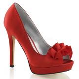 Vermelho Cetim 12 cm LUMINA-42 sapato scarpin para noite de gala