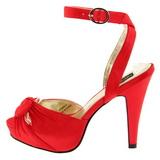 Vermelho Cetim 12 cm PINUP COUTURE BETTIE-04 Plataforma Salto Agulha