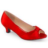 Vermelho Cetim 5 cm FAB-422 numeros grandes scarpin mulher