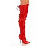 Vermelho Couro 13 cm LEGEND-8899 bota acima do joelho