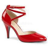 Vermelho Envernizado 10 cm DREAM-408 numeros grandes scarpin mulher