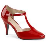 Vermelho Envernizado 10 cm DREAM-425 numeros grandes scarpin mulher