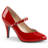 Vermelho Envernizado 10 cm DREAM-428 numeros grandes scarpin mulher