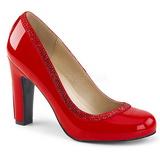 Vermelho Envernizado 10 cm QUEEN-04 numeros grandes scarpin mulher