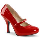 Vermelho Envernizado 11,5 cm PINUP-01 numeros grandes scarpin mulher