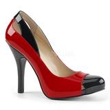Vermelho Envernizado 12,5 cm EVE-07 numeros grandes scarpin mulher
