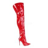 Vermelho Envernizado 13 cm COURTLY-3012 Botas altas pleaser