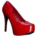 Vermelho Envernizado 14,5 cm Burlesque TEEZE-06W scarpin pés largos para homem