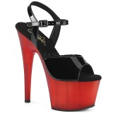 Vermelho Envernizado 18 cm ADORE-709T sandálias pleaser com plataforma