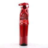 Vermelho Envernizado 25,5 cm BEYOND-087 scarpin pleaser com plataforma