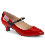 Vermelho Envernizado 5 cm FAB-425 numeros grandes scarpin mulher