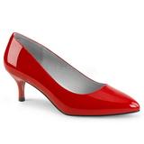 Vermelho Envernizado 6,5 cm KITTEN-01 numeros grandes scarpin mulher