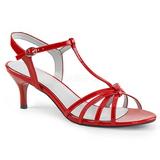 Vermelho Envernizado 6 cm KITTEN-06 numeros grandes sandálias mulher