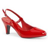 Vermelho Envernizado 7,5 cm DIVINE-418 numeros grandes scarpin mulher
