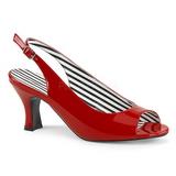 Vermelho Envernizado 7,5 cm JENNA-02 numeros grandes sandálias mulher