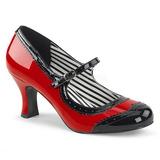 Vermelho Envernizado 7,5 cm JENNA-06 numeros grandes scarpin mulher