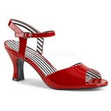 Vermelho Envernizado 7,5 cm JENNA-09 numeros grandes sandálias mulher