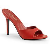 Vermelho Imitacao couro 10 cm CLASSIQUE-01 numeros grandes tamancos mulher