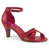 Vermelho Imitação couro 7,5 cm DIVINE-435 numeros grandes sandálias mulher