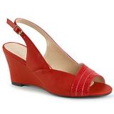 Vermelho Imitação couro 7,5 cm KIMBERLY-01SP numeros grandes sandálias mulher