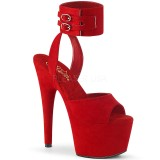 Vermelho Imitação de couro 18 cm ADORE-791FS sandálias de tiras no tornozelo