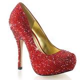 Vermelho Pedras Brilhando 13,5 cm FELICITY-20 calçados femininos salto alto