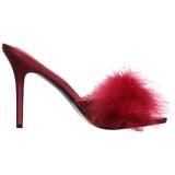 Vermelho Penas 10 cm CLASSIQUE-01F Tamancos Altos para Homens