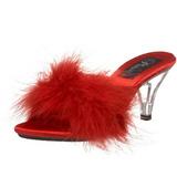 Vermelho Penas 8 cm BELLE-301F Tamancos Altos para Homens