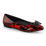 Vermelho Preto VAIL-20BL gotico sapatas da bailarina baixos altos