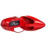 Vermelho Verniz 10,5 cm VANITY-415 Scarpin Saltos Altos para Homens