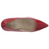 Vermelho Verniz 10 cm CLASSIQUE-20 Sapatos Scarpin Salto Agulha