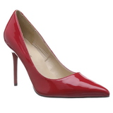 Vermelho Verniz 10 cm CLASSIQUE-20 Scarpin Saltos Altos para Homens