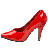 Vermelho Verniz 10 cm DREAM-420 Scarpin Saltos Altos para Homens